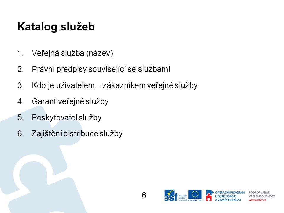 Katalog služeb Veřejná služba (název)