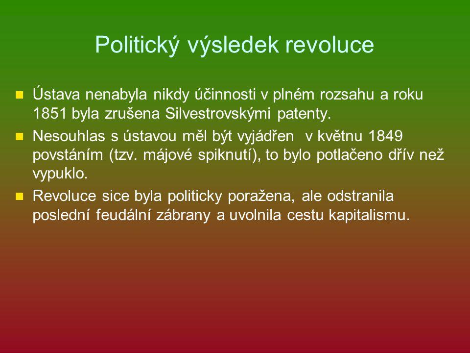 Politický výsledek revoluce