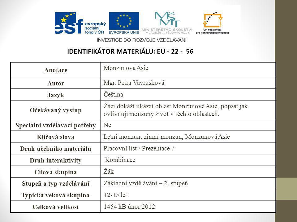 Identifikátor materiálu: EU - 22 - 56