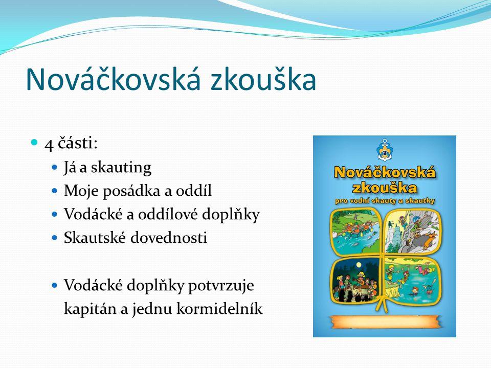 Nováčkovská zkouška 4 části: Já a skauting Moje posádka a oddíl