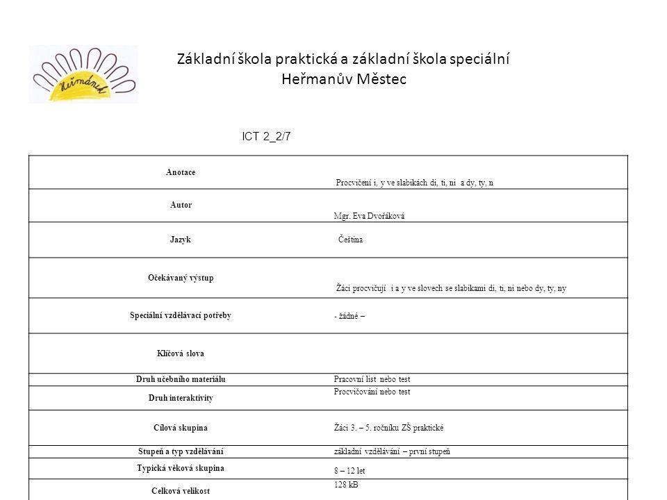 Základní škola praktická a základní škola speciální Heřmanův Městec
