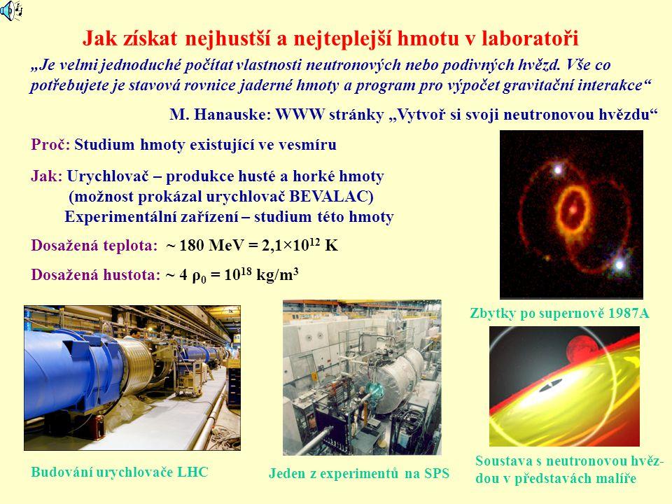 Jak získat nejhustší a nejteplejší hmotu v laboratoři