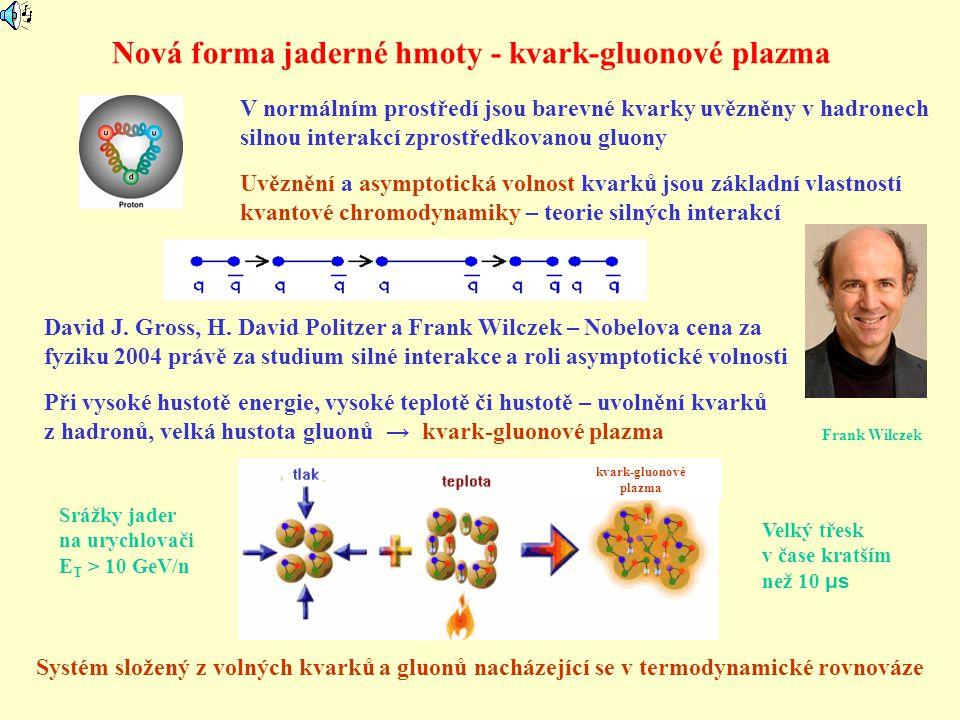 Nová forma jaderné hmoty - kvark-gluonové plazma