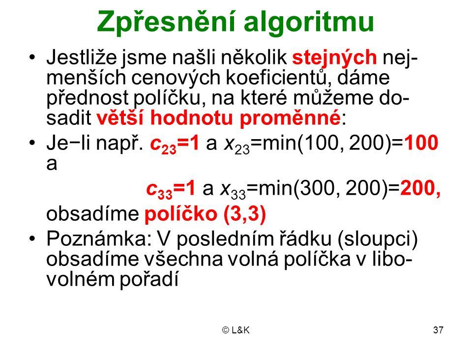 Zpřesnění algoritmu
