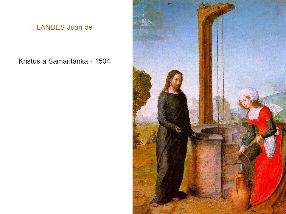 FLANDES Juan de Kristus a Samaritánka - 1504