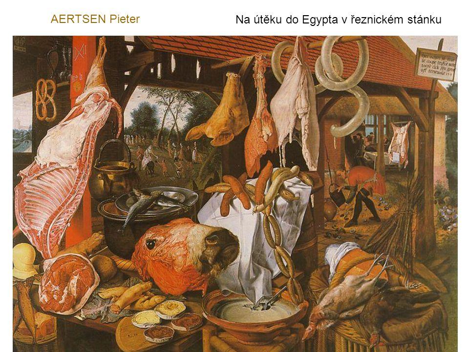 AERTSEN Pieter Na útěku do Egypta v řeznickém stánku