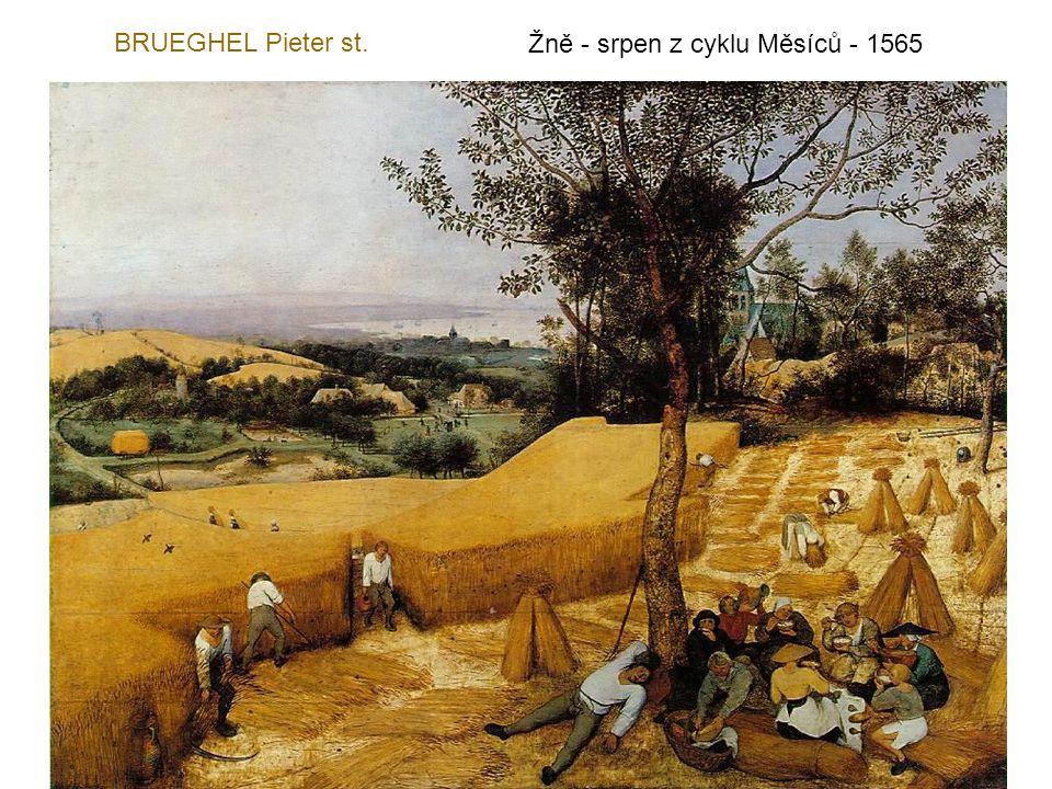 BRUEGHEL Pieter st. Žně - srpen z cyklu Měsíců - 1565