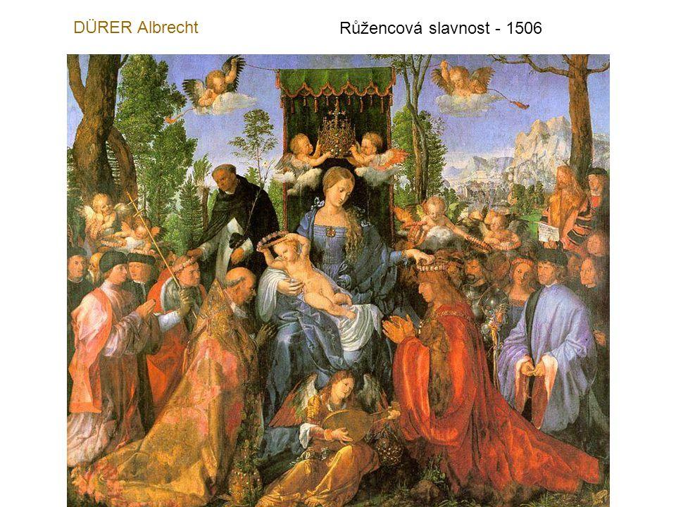 DÜRER Albrecht Růžencová slavnost - 1506