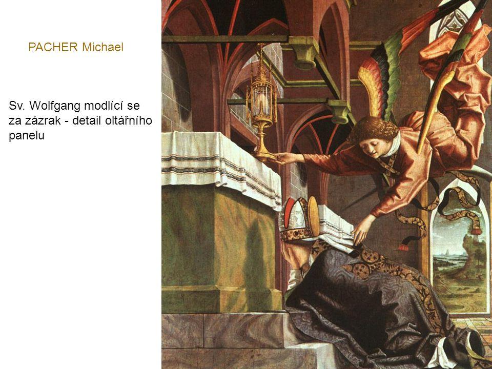 PACHER Michael Sv. Wolfgang modlící se za zázrak - detail oltářního panelu