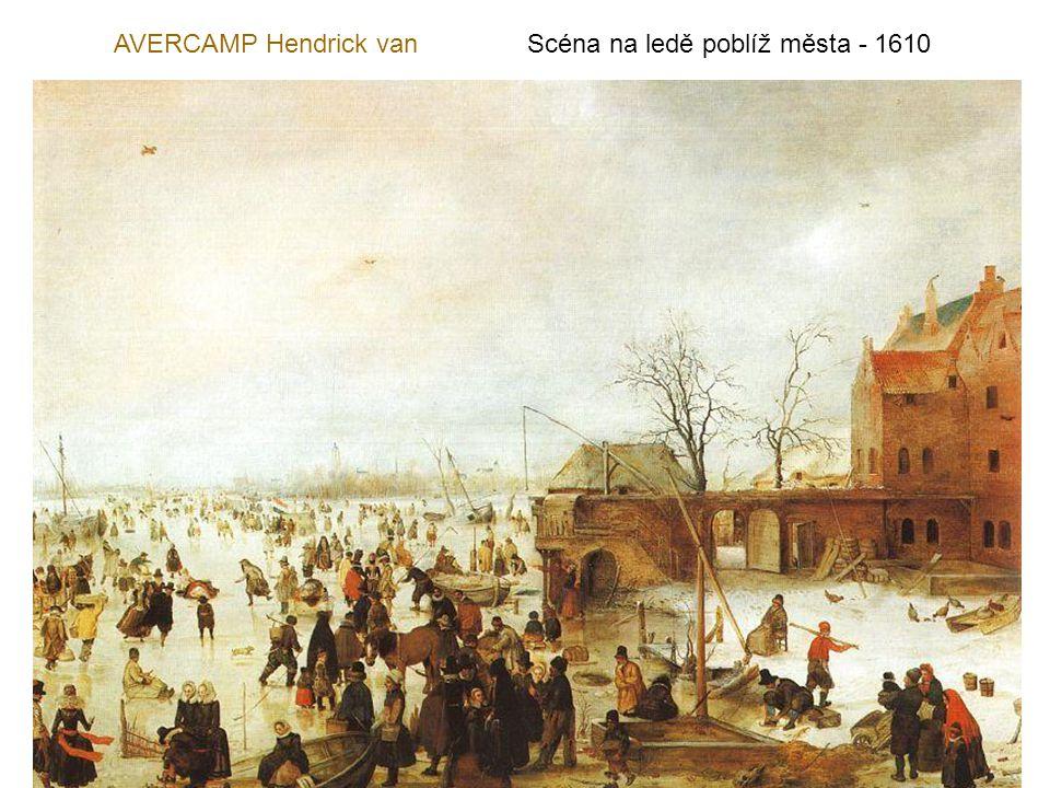 AVERCAMP Hendrick van Scéna na ledě poblíž města - 1610