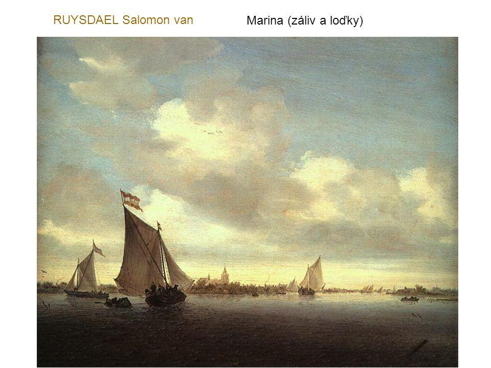 RUYSDAEL Salomon van Marina (záliv a loďky)