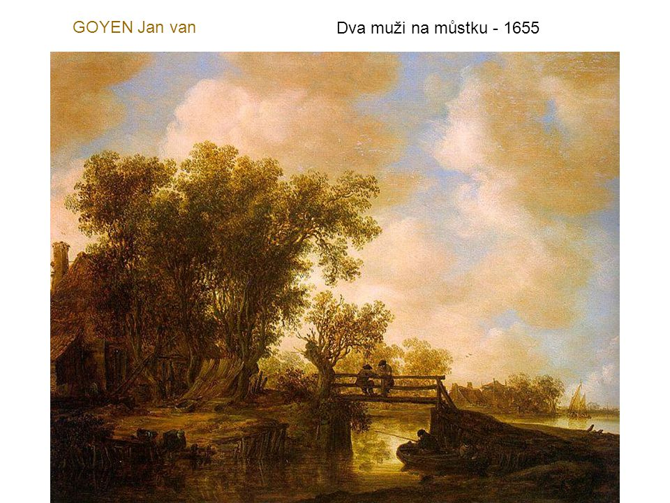 GOYEN Jan van Dva muži na můstku - 1655