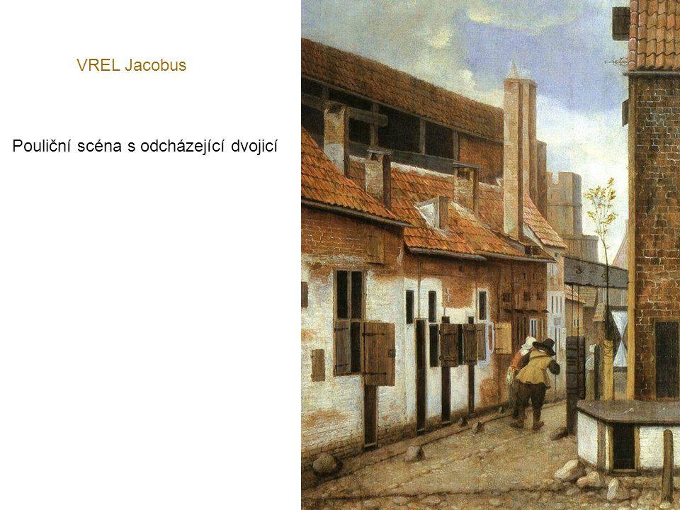 VREL Jacobus Pouliční scéna s odcházející dvojicí