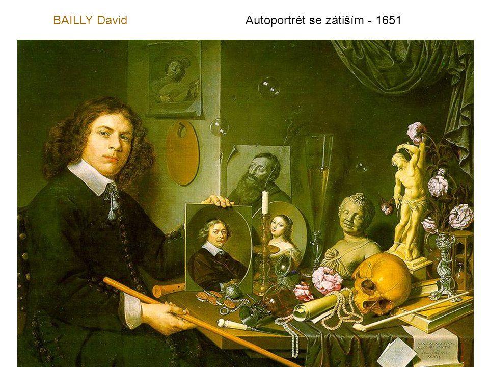 BAILLY David Autoportrét se zátiším - 1651