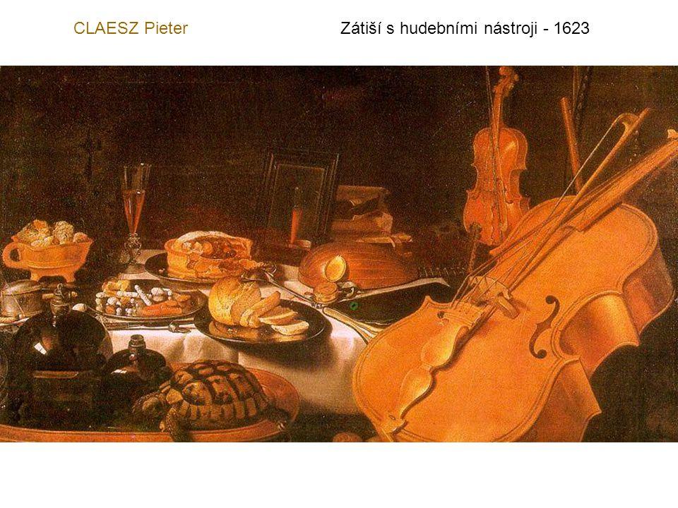 CLAESZ Pieter Zátiší s hudebními nástroji - 1623