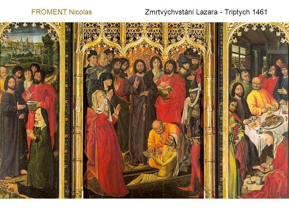 FROMENT Nicolas Zmrtvýchvstání Lazara - Triptych 1461