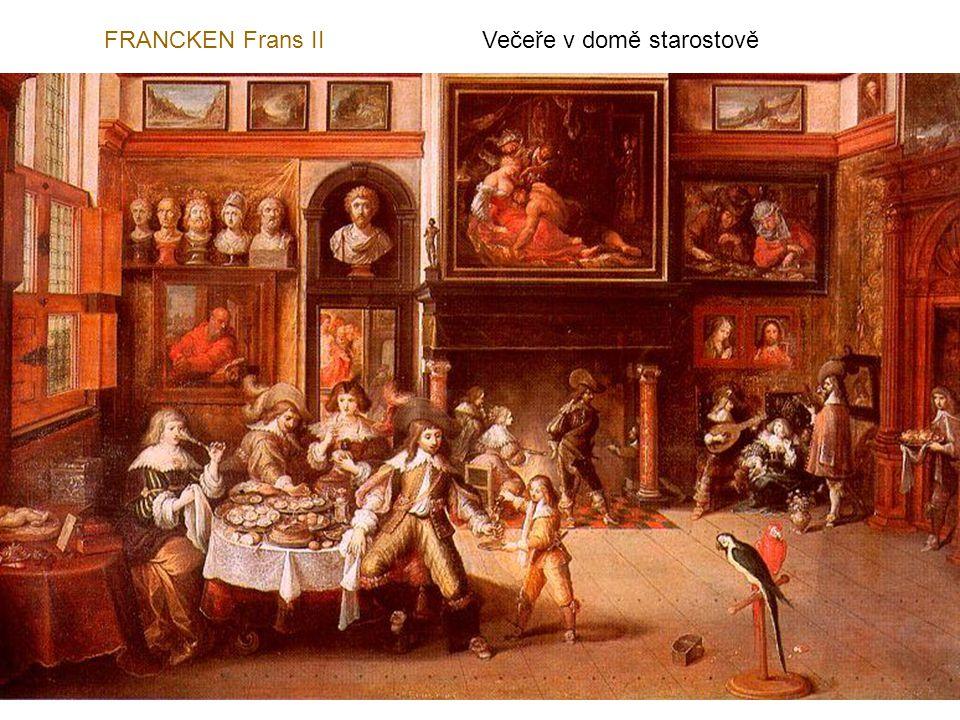 FRANCKEN Frans II Večeře v domě starostově