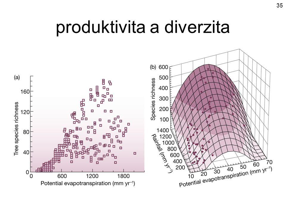 produktivita a diverzita