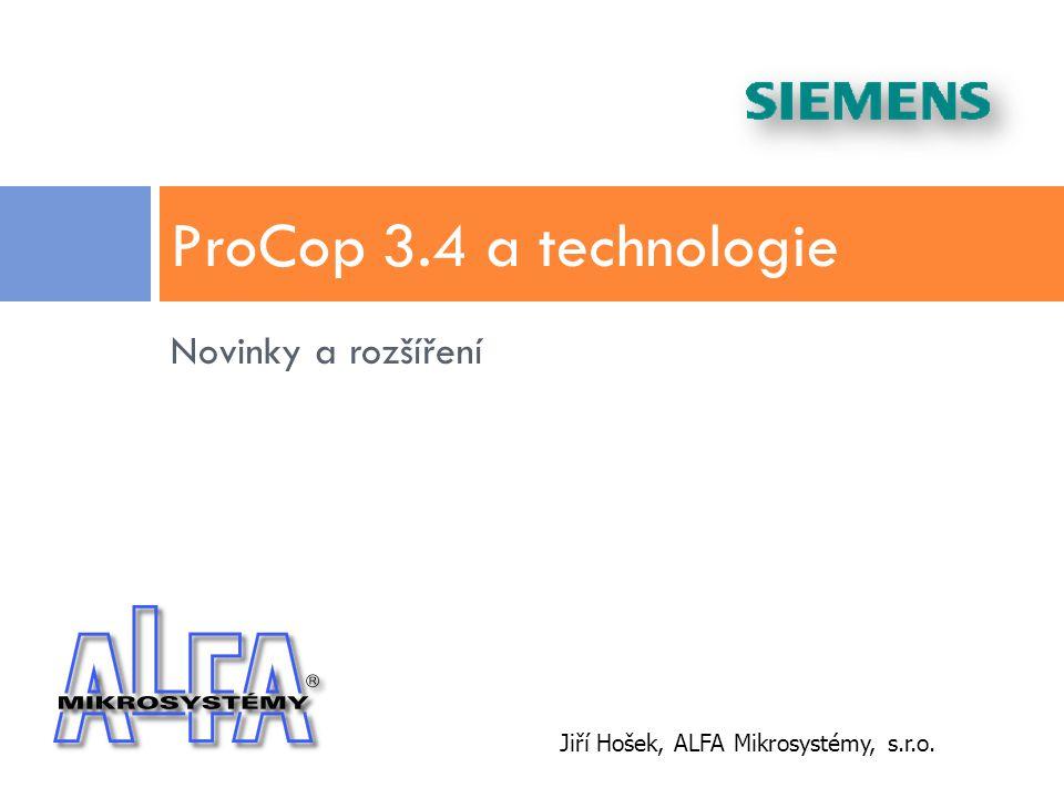 ProCop 3.4 a technologie Novinky a rozšíření