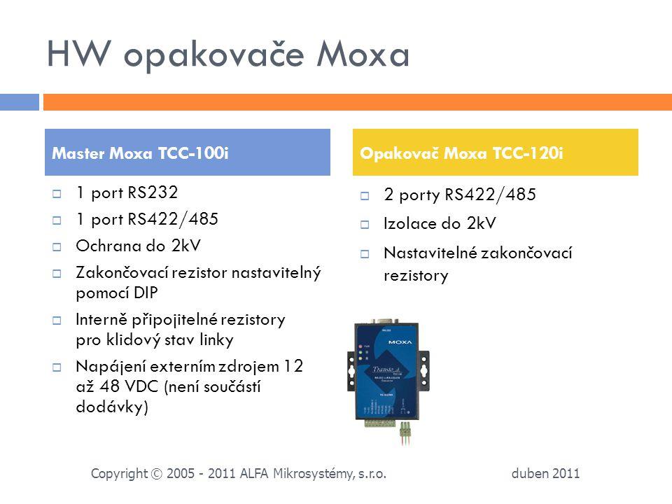 HW opakovače Moxa Master Moxa TCC-100i Opakovač Moxa TCC-120i