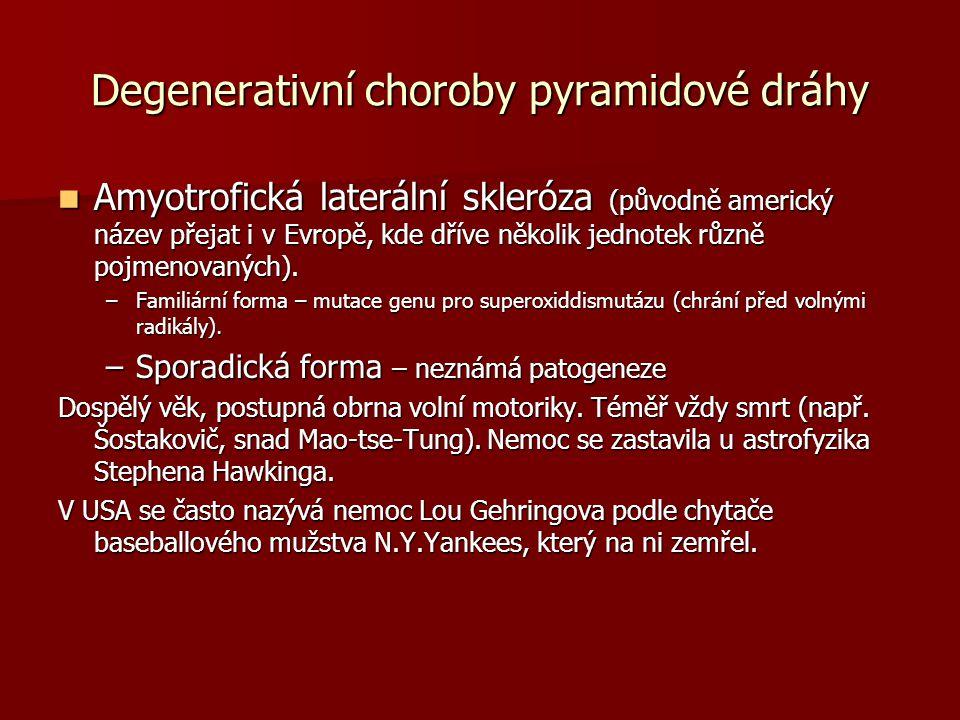 Degenerativní choroby pyramidové dráhy