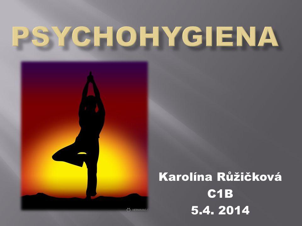 PSYCHOHYGIENA Karolína Růžičková C1B 5.4. 2014