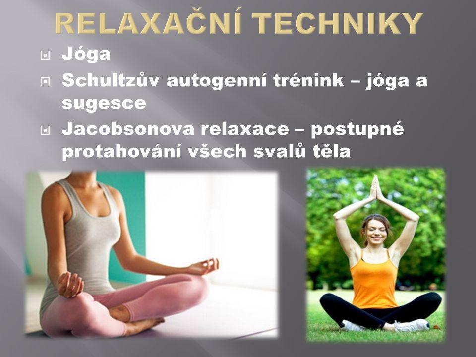 RELAXAČNÍ TECHNIKY Jóga Schultzův autogenní trénink – jóga a sugesce