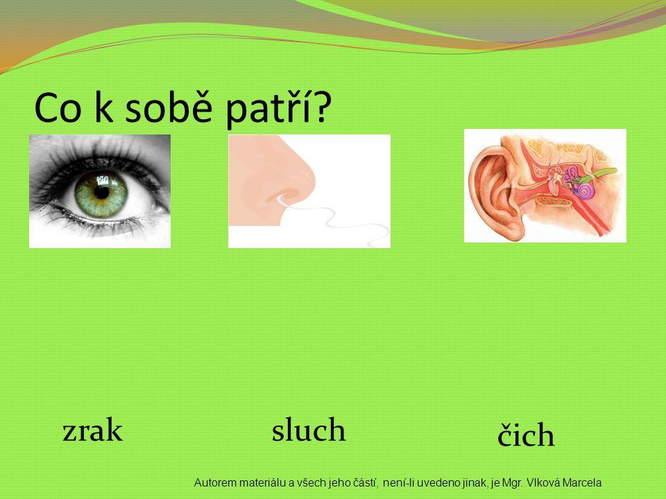 Co k sobě patří zrak sluch čich