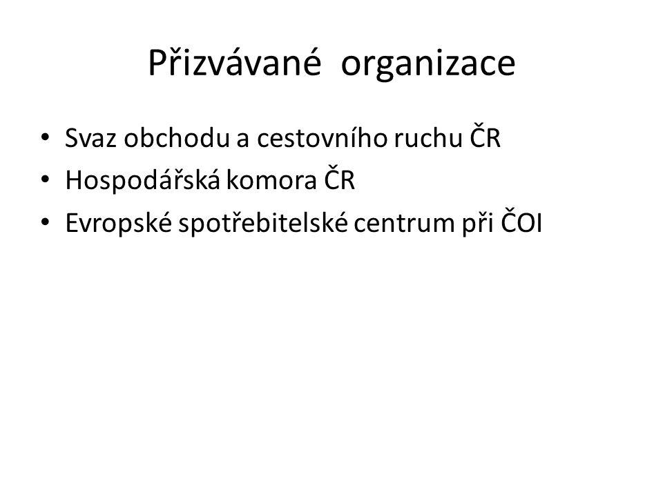 Přizvávané organizace