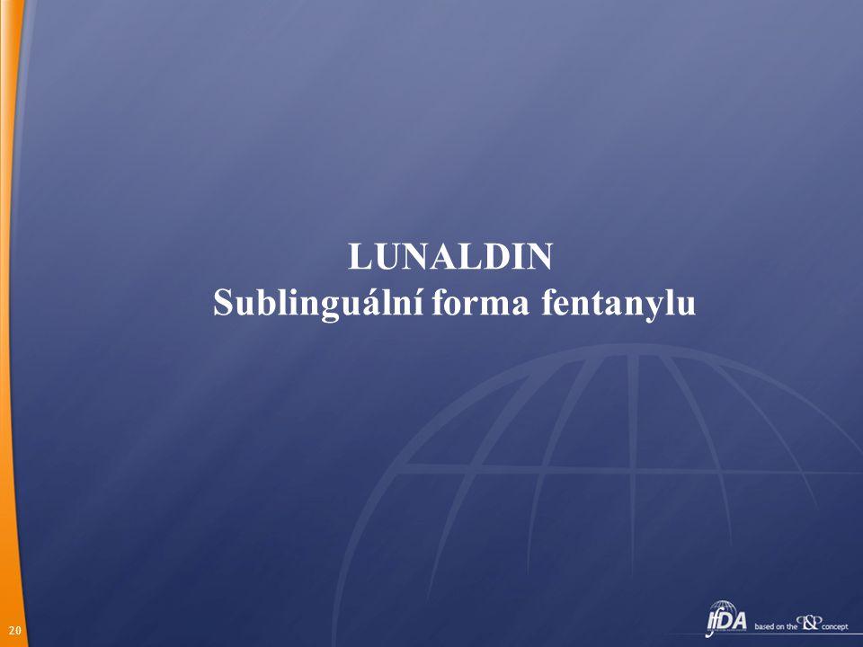 Sublinguální forma fentanylu
