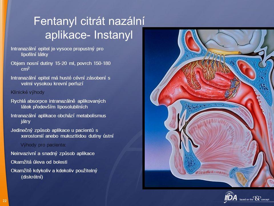 Fentanyl citrát nazální aplikace- Instanyl