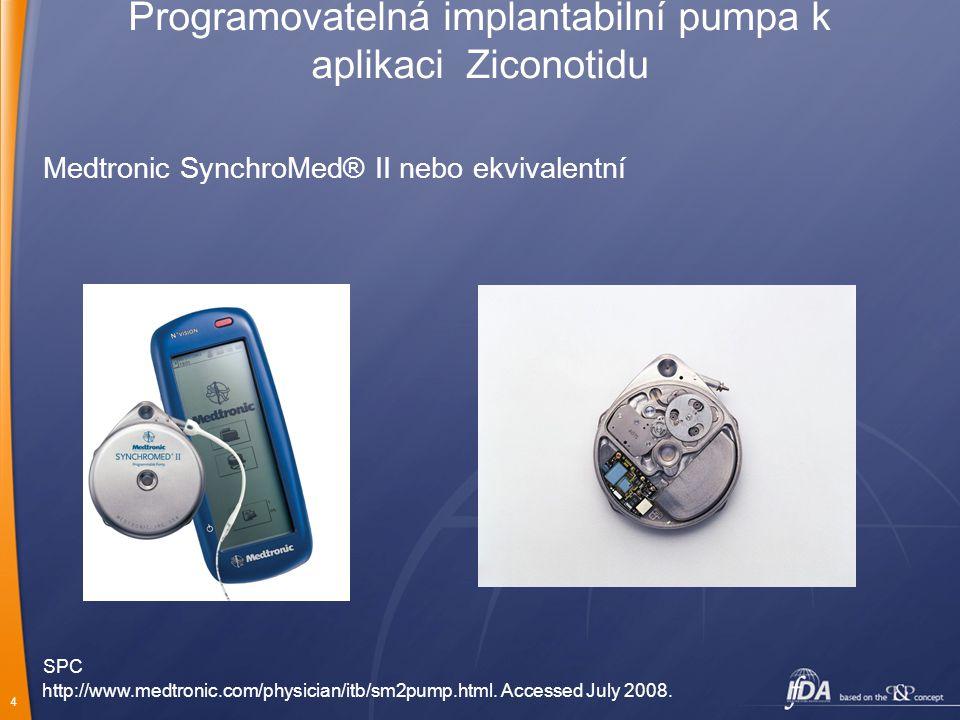 Programovatelná implantabilní pumpa k aplikaci Ziconotidu