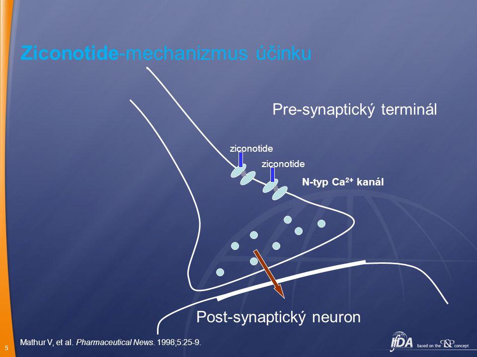 Ziconotide-mechanizmus účinku