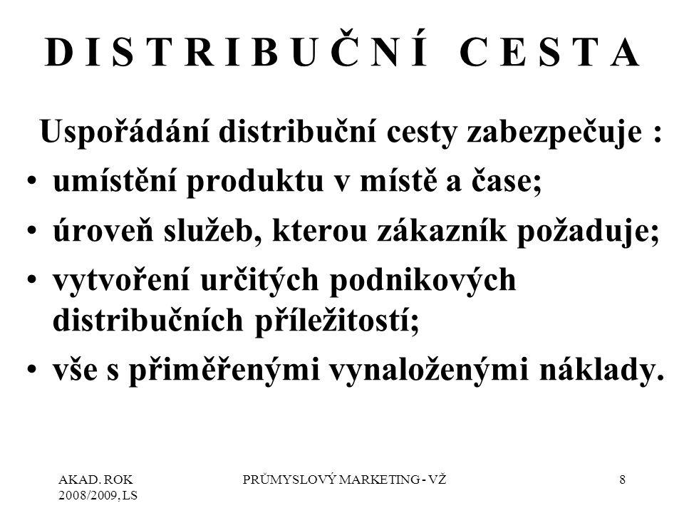 Uspořádání distribuční cesty zabezpečuje :