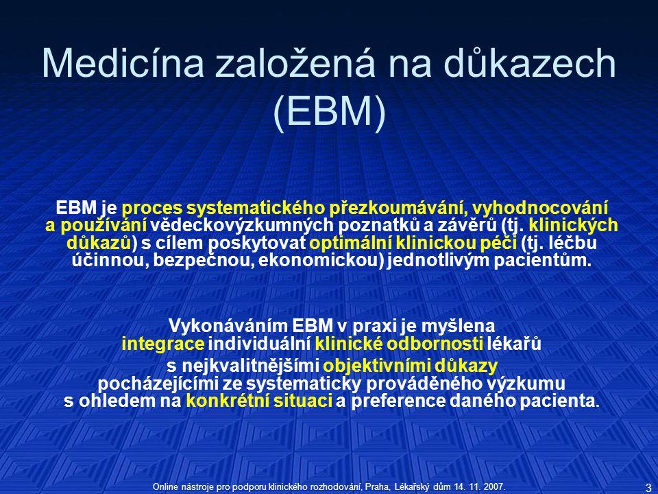 Medicína založená na důkazech (EBM)