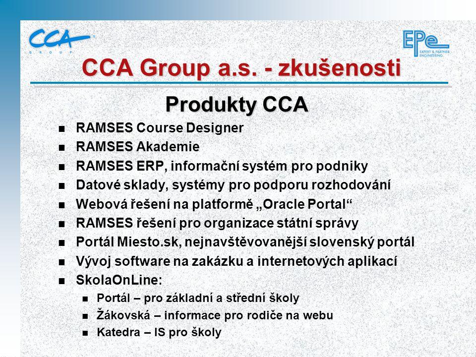 CCA Group a.s. - zkušenosti