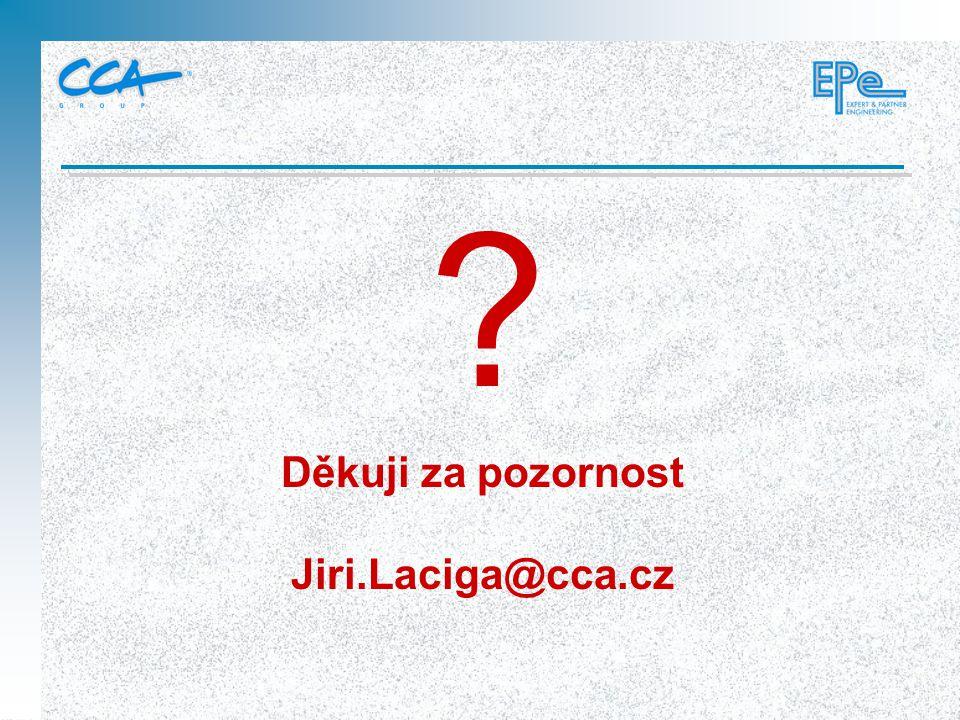 Děkuji za pozornost Jiri.Laciga@cca.cz