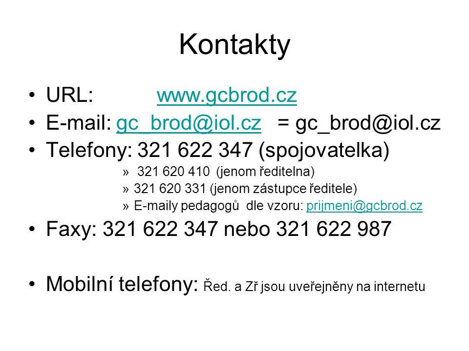 Kontakty URL: www.gcbrod.cz E-mail: gc_brod@iol.cz = gc_brod@iol.cz