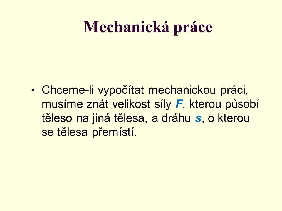 Mechanická práce