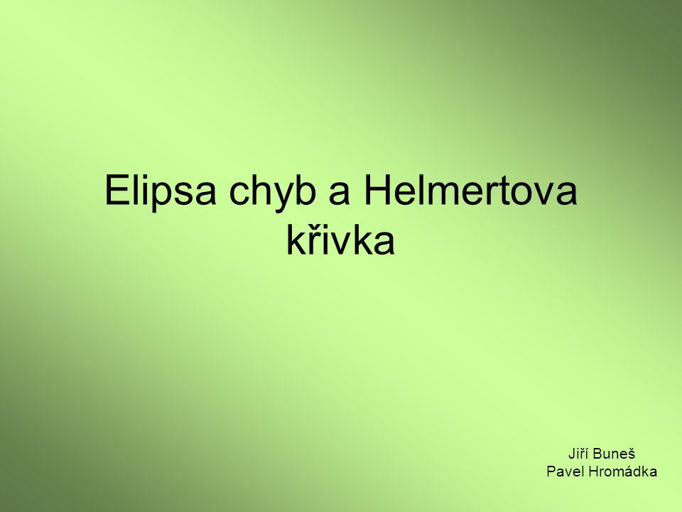 Elipsa chyb a Helmertova křivka
