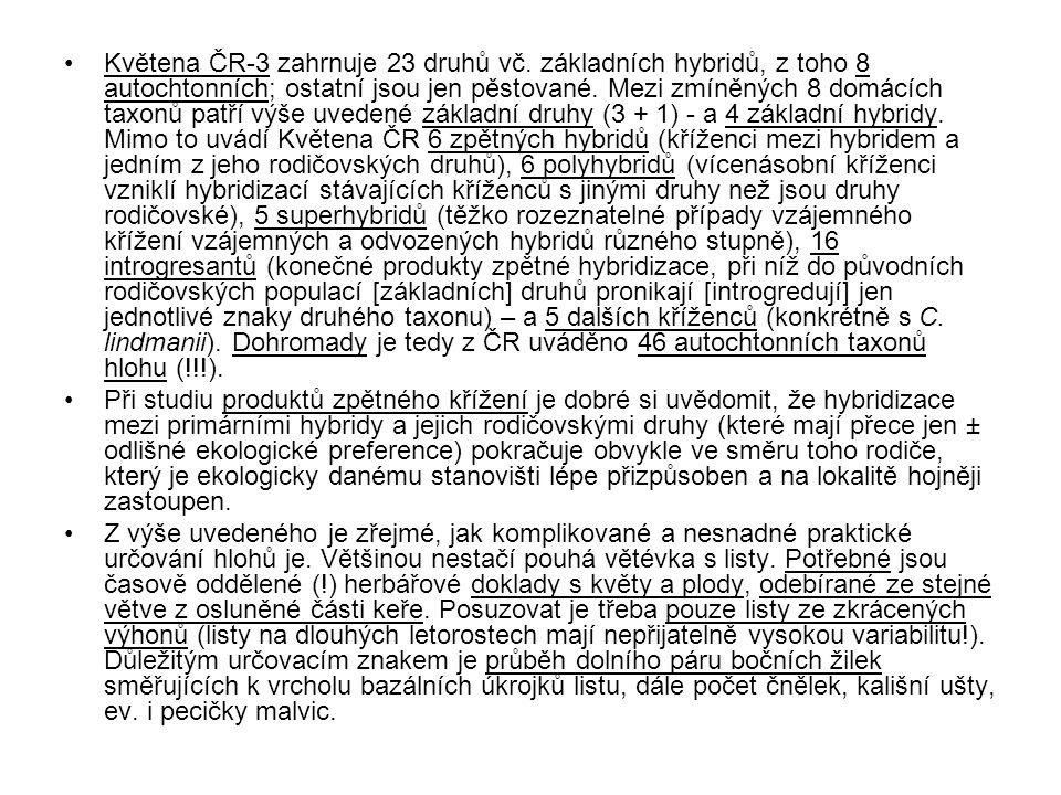 Květena ČR-3 zahrnuje 23 druhů vč