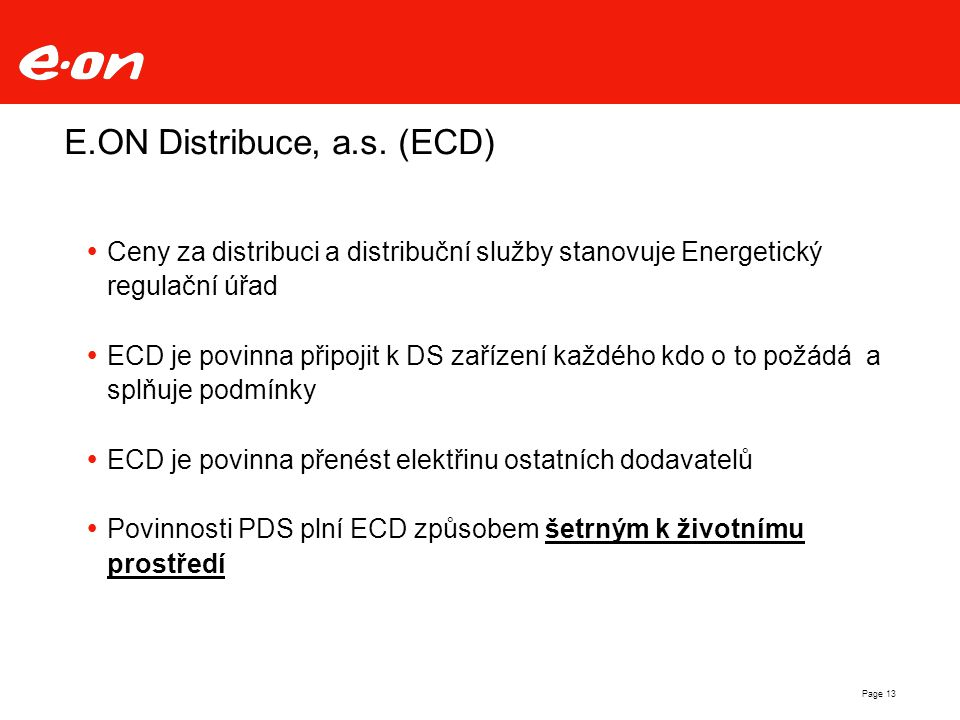 E.ON Distribuce, a.s. (ECD)