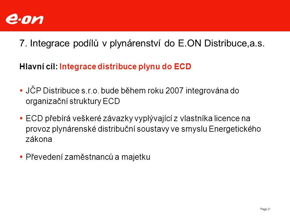 7. Integrace podílů v plynárenství do E.ON Distribuce,a.s.