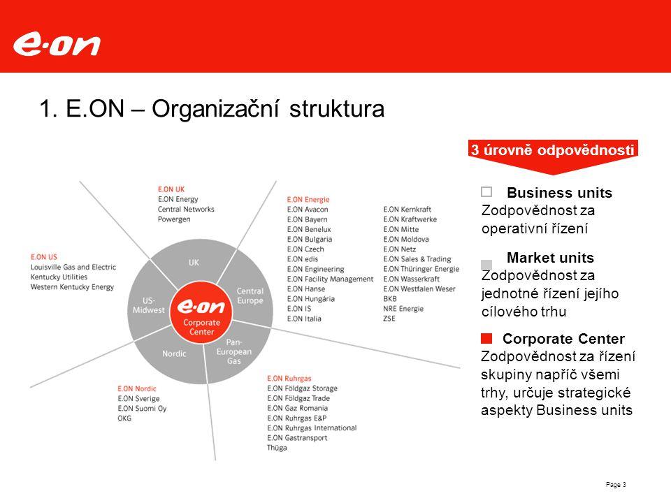 1. E.ON – Organizační struktura