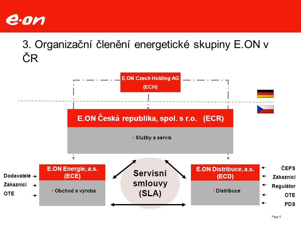 3. Organizační členění energetické skupiny E.ON v ČR