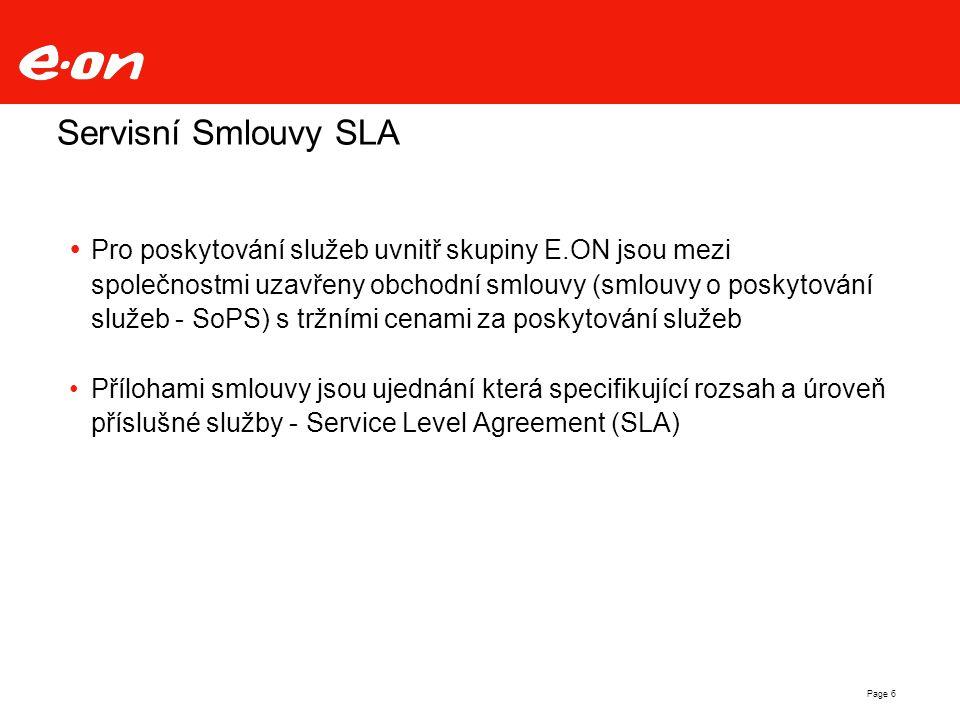 Servisní Smlouvy SLA