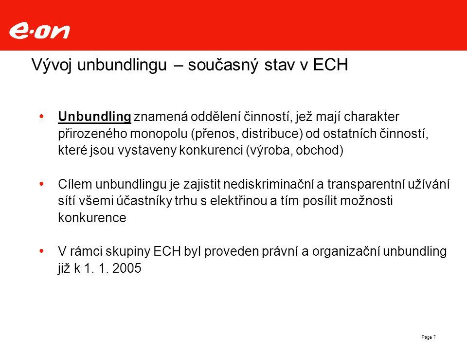 Vývoj unbundlingu – současný stav v ECH