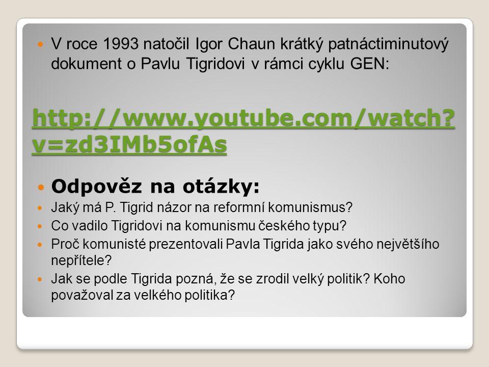http://www.youtube.com/watch v=zd3IMb5ofAs Odpověz na otázky:
