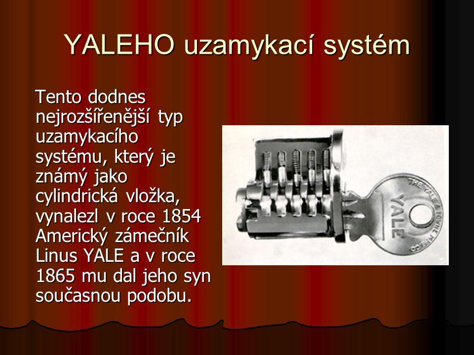 YALEHO uzamykací systém
