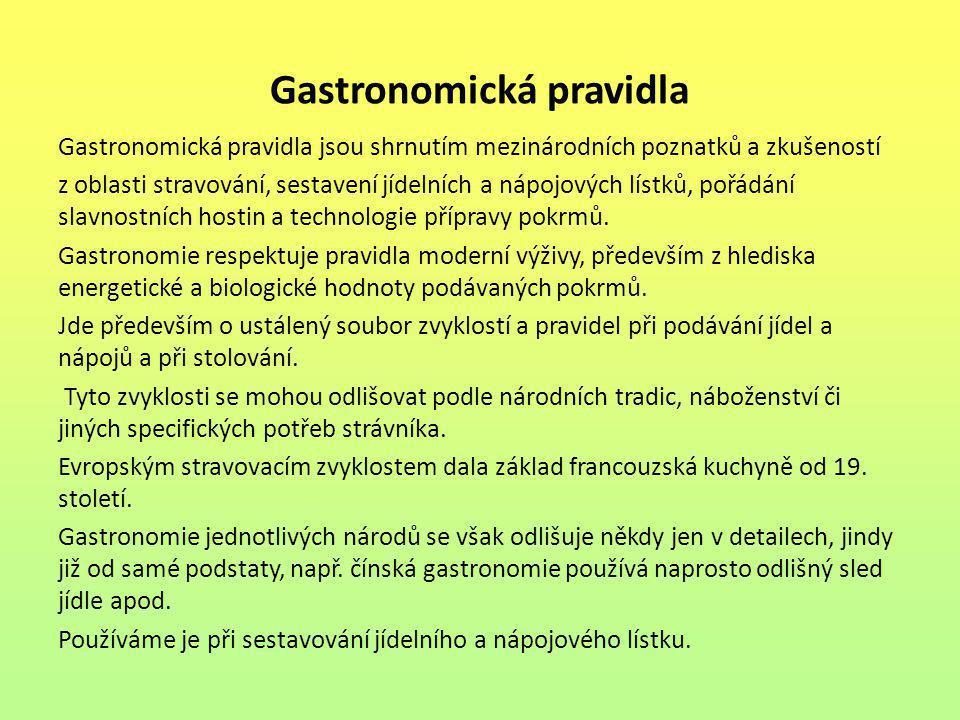 Gastronomická pravidla